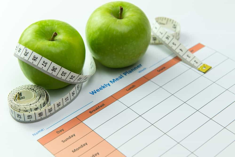 To lose 40lbs in 2 months, it helps to plan out your meals.