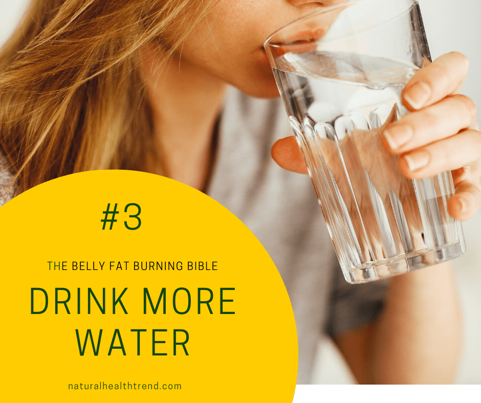 Drink more water to help yourself feel full and hydrated