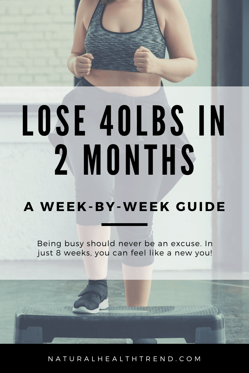 How to lose 40lbs in 2 months - a week-by-week guide